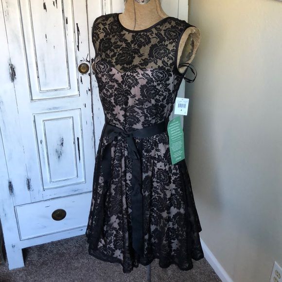 bfed60ef5 jcpenney Dresses | Black Lace Special Occasion Dress Nwt Size 4 ...